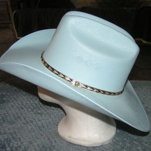 2cfef9c3e New Light Blue Canvas Unisex Cowboy Hat